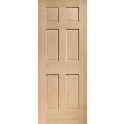 XL Joinery Internal Oak Colonial 6 Panel NRM Fire Door FD30
