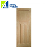 Internal Oak DX 1930s Edwardian Style 4 Panel Door