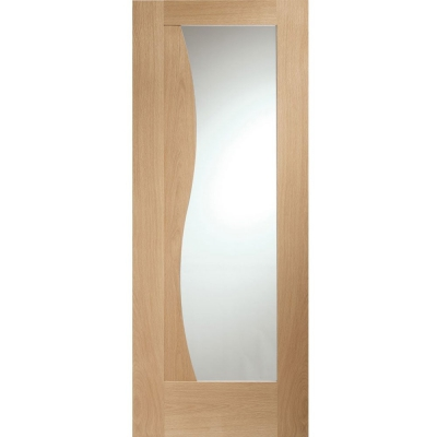 XL Joinery Internal Oak Emilia Clear Glazed Door