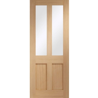 Internal Oak Malton Shaker 2L Clear Glazed Door