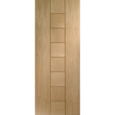 XL Joinery Internal Oak Messina Contemporary Grooved Flush Fire Door FD30