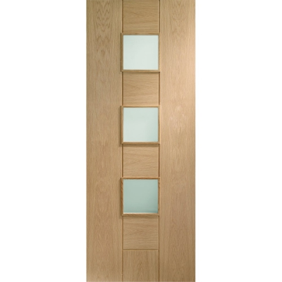XL Joinery Internal Oak Messina Obscure Glazed Door