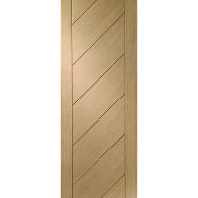 XL Joinery Internal Oak Monza Contemporary Grooved Flush Door