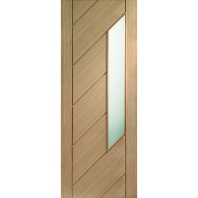 XL Joinery Internal Oak Monza Obscure Glazed Door