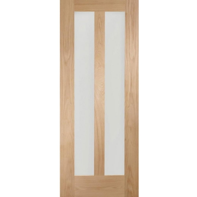 XL Joinery Internal Oak Novara 2L Clear Glazed Door