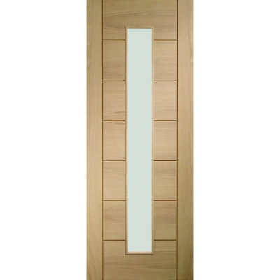 XL Joinery Internal Oak Palermo 1 Light Clear Glazed Fire Door FD30