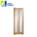 Internal Oak Pattern 10 Bi-Fold Clear Glazed Door