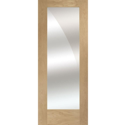 XL Joinery Internal Oak Pattern 10 Door with Mirror on One Side