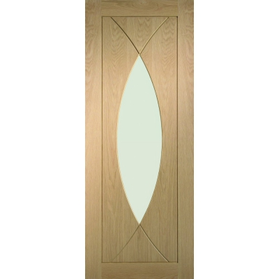 XL Joinery Internal Oak Pesaro Clear Glazed Door