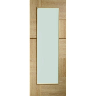XL Joinery Internal Oak Ravenna Clear Glazed Door