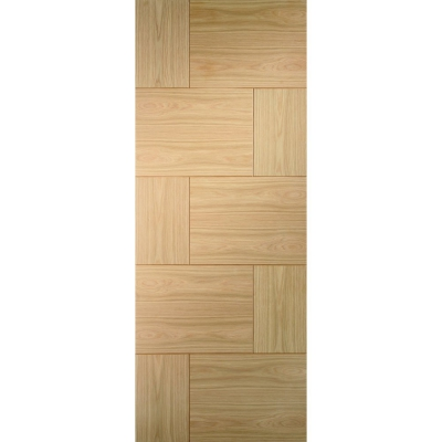 XL Joinery Internal Oak Ravenna Contemporary Grooved Flush Fire Door FD30