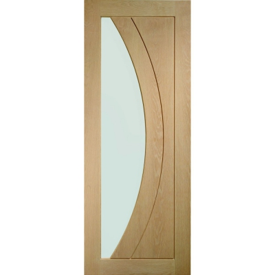XL Joinery Internal Oak Salerno Clear Glazed Door