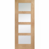 XL Joinery Internal Oak Shaker Obscure Glazed Fire Door FD30