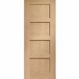 XL Joinery Internal Oak Shaker Pre-Finished 4 Panel Fire Door FD30