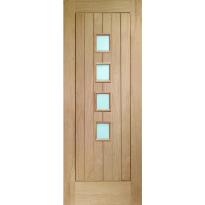 XL Joinery Internal Oak Suffolk 4 Light Obscure Glazed Door