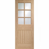 XL Joinery Internal Oak Suffolk 6 Light Clear Glazed Fire Door FD30