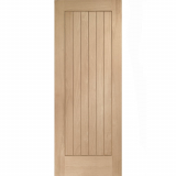 XL Joinery Internal Oak Suffolk Vertical Grooved Flush Fire Door FD30