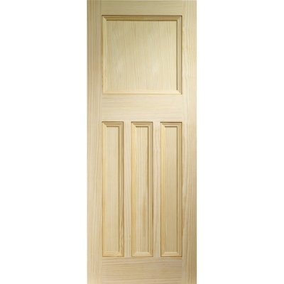 XL Joinery Internal Pine Vine DX 1930s Edwardian Style 4 Panel Door