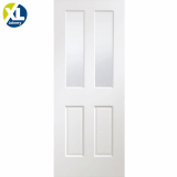 Internal White Primed Portici Pre-Finished Clear Etched Glazed Door