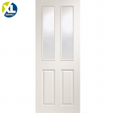 Internal White Moulded Victorian Clear Glazed Door
