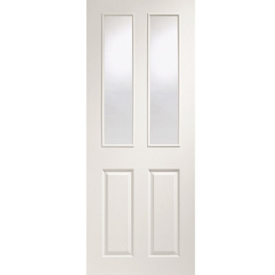 XL Joinery Internal White Moulded Victorian Clear Glazed Door