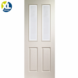 Internal White Moulded Victorian Forbes Glazed Door
