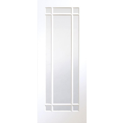 XL Joinery Internal White Primed Cheshire Clear Glazed Door