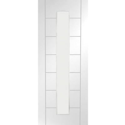 XL Joinery Internal White Primed Palermo 1L Clear Glazed Door