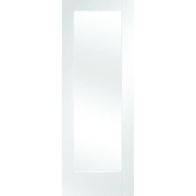 XL Joinery Internal White Primed Pattern 10 Clear Glazed Fire Door FD30