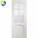 Internal White Riviera Pre-Finished Clear Bevelled Glazed Door