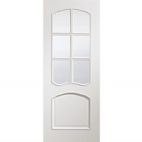XL Joinery Internal White Riviera Pre-Finished Clear Bevelled Glazed Door