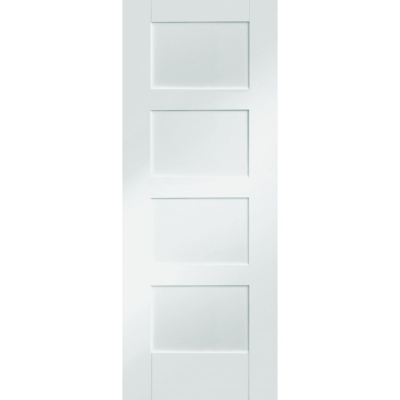XL Joinery Internal White Primed Shaker 4 Panel Fire Door FD30