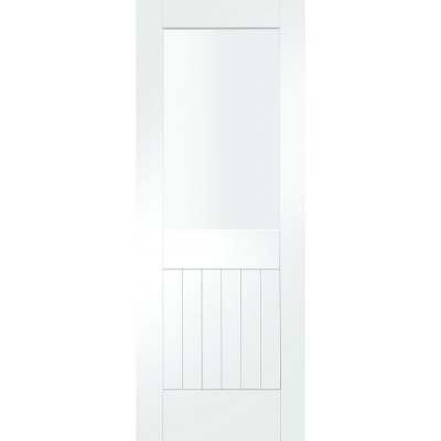 XL Joinery Internal Smooth Finish Suffolk Light Clear Glazed Door
