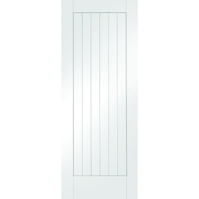 XL Joinery Internal White Primed Suffolk Vertical Panel Flush Fire Door FD30