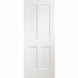 XL Joinery Internal White Victorian Pre-Finished 4 Panel Fire Door FD30