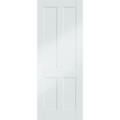 XL Joinery Internal White Primed Victorian Shaker 4 Panel Fire Door FD30