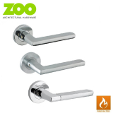 Designer Zinc VENICE Internal Lever on Rose Fire Rated Door Handle Pair