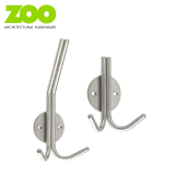 Stainless Steel Contemporary Double Coat & Hat Hook