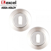 Excel Pair of Designer LINEA / AZTEC Satin Chrome Keyhole Door Escutcheons