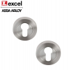 Pair of Stainless Steel Euro Profile Door Keyhole Escutcheons