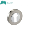 Door Keyhole Escutcheon in Duo Zinc Chrome Finish