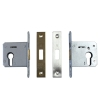RTD Grade 201 Stainless Steel Fire Rated Lever on Rose Door Handle Pair
