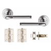 Excel PLUS Internal Door Handle Pack Lever on Rose Dual Chrome Finish