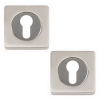 Excel Pair of ASTRO ASTRAL Euro Profile Door Escutcheons in Satin Nickel Plated Finish