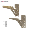 Pair of Zinc Plated Sprung Swing Up Flap Hinge Set