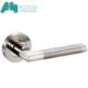 CURVED Internal Door Handle Pair Lever on Rose in Duo Chrome D24