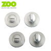 Designer ULTIMO / CHRONOS / ARGO Dual Chrome Square Bathroom Thumbturn & Release Set